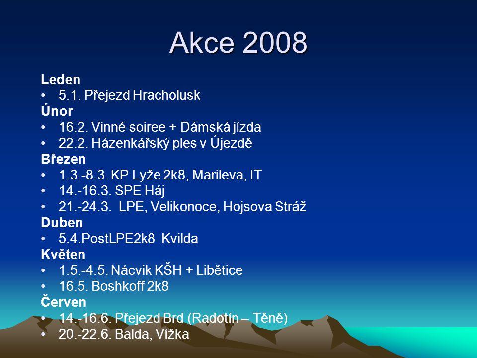 Akce 2008 Leden 5.1. Přejezd Hracholusk Únor 16.2.
