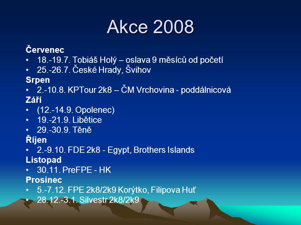 Akce 2008 Červenec 18.-19.7. Tobiáš Holý – oslava 9 měsíců od početí 25.-26.7.