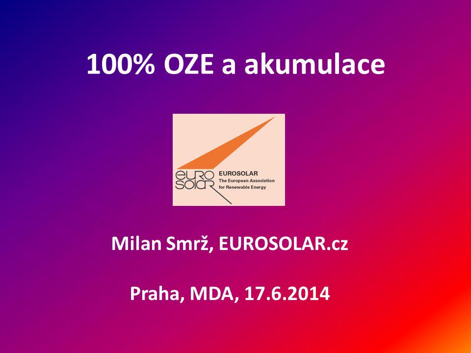 100% OZE a akumulace Milan Smrž, EUROSOLAR.cz Praha, MDA, 17.6.2014