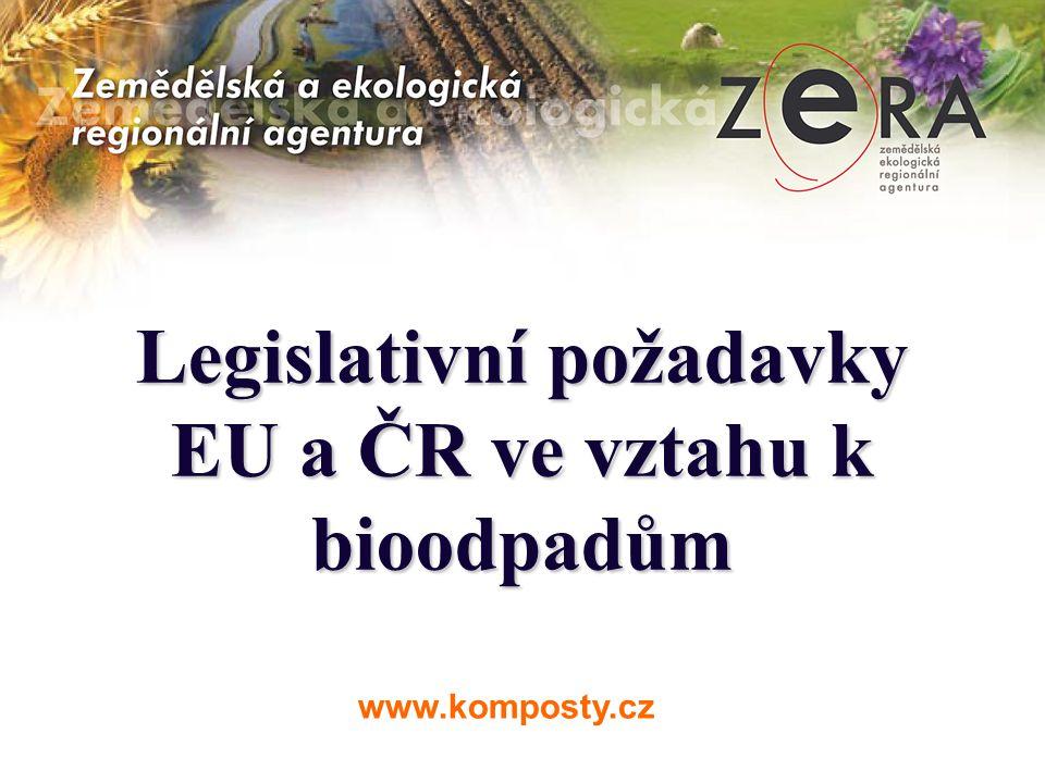 Legislativní požadavky EU a ČR ve vztahu k bioodpadům www.komposty.cz