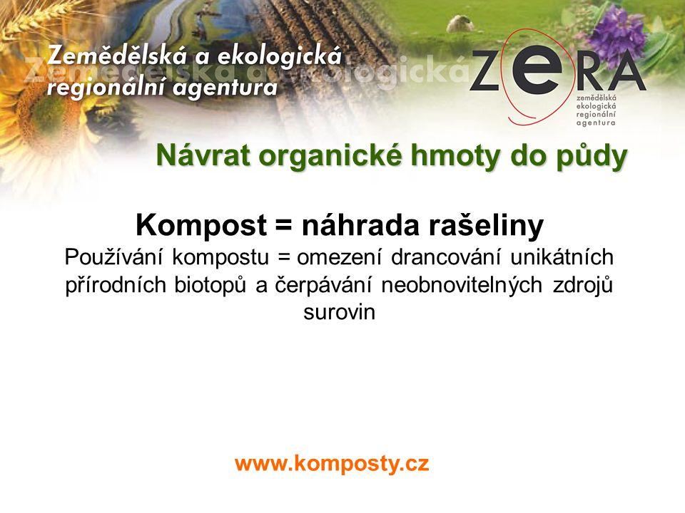 www.komposty.cz Kompost = náhrada rašeliny Používání kompostu = omezení drancování unikátních přírodních biotopů a čerpávání neobnovitelných zdrojů su