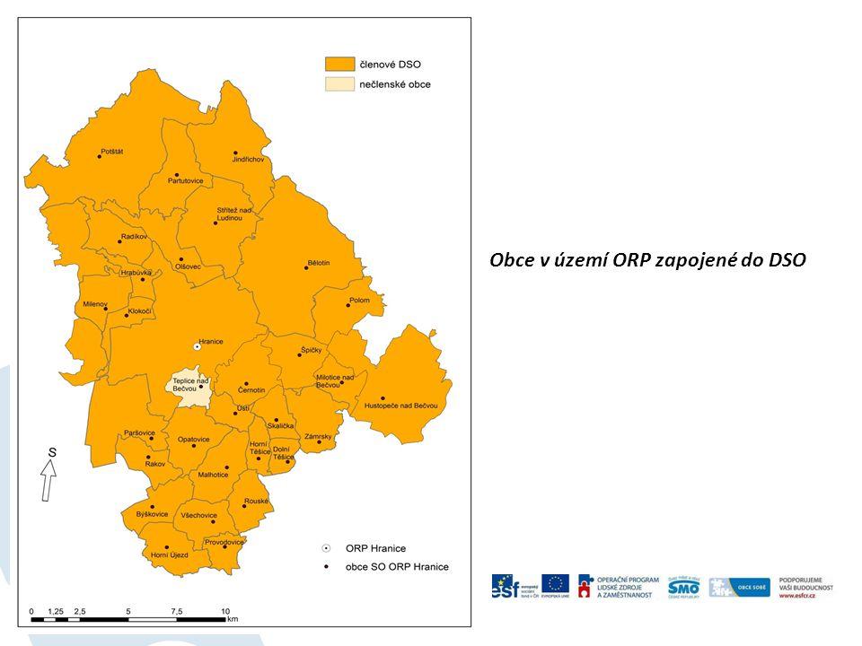 Obce v území ORP zapojené do DSO