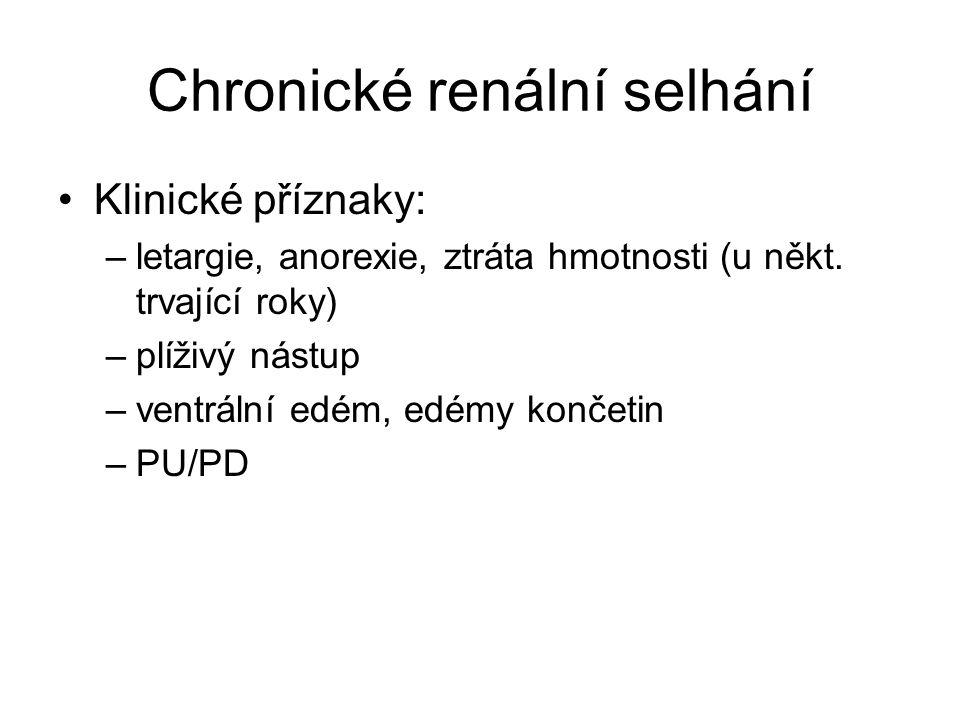 Obstrukční nemoci močových cest urolitiáza, nefrolitiáza, ureterolitiáza (CaCO 3 ) dysurie, inkontinence, mírná abdominální bolest, ledvinová kolika (ojediněle)