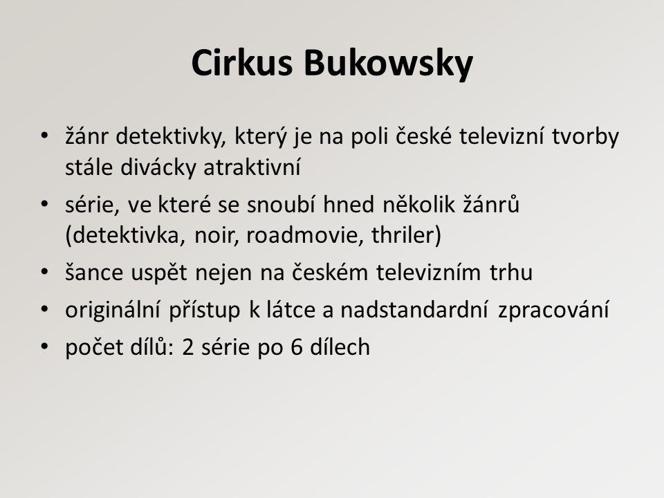 Cirkus Bukowsky žánr detektivky, který je na poli české televizní tvorby stále divácky atraktivní série, ve které se snoubí hned několik žánrů (detekt