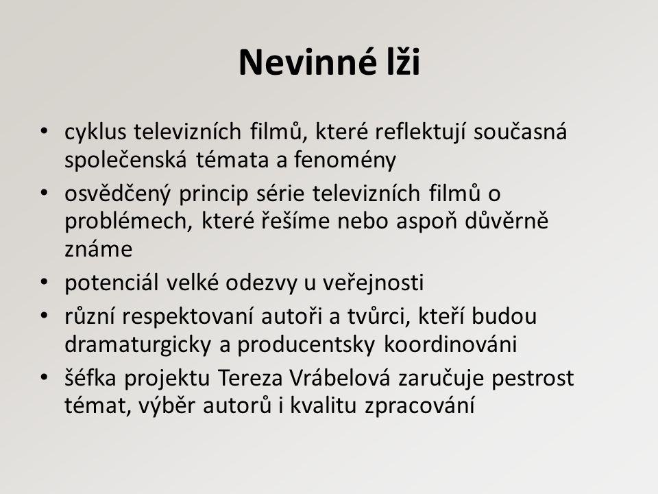 Český žurnál série společensky kritických dokumentů natočených během jednoho roku silná sociální témata a jeho širší souvislosti, medializované události filmový jazyk, pohled do zákulisí, důkladné rešerše, situačnost, nadhled, nadčasovost