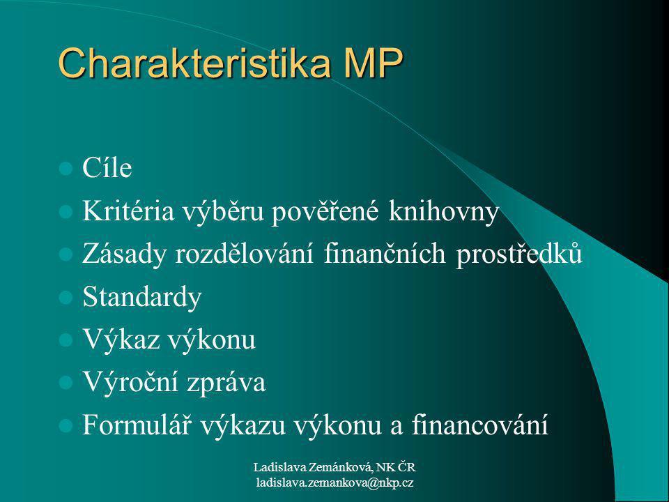 Ladislava Zemánková, NK ČR ladislava.zemankova@nkp.cz Loni nacvičené zúročíme letos.