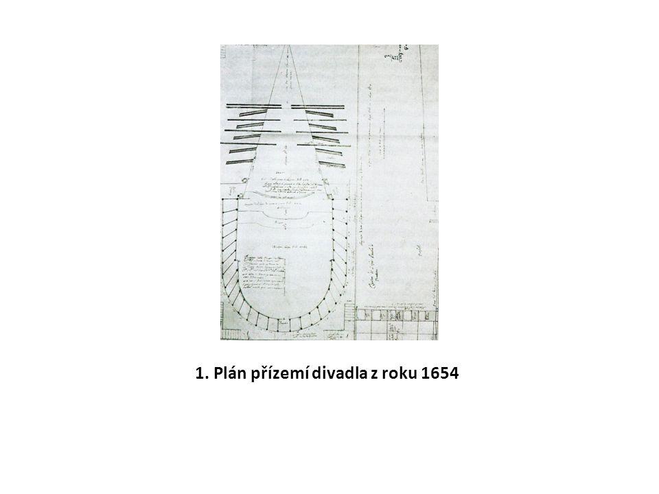1. Plán přízemí divadla z roku 1654
