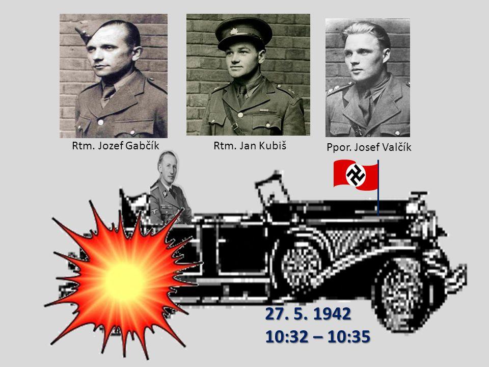 Heydrich jel v otevřeném voze – v kabrioletu značky Mercedes – ze svého sídla na zámku v Panenských Břežanech na Pražský hrad. Když Valčík zpozoroval