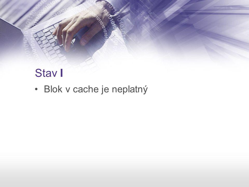 Stav I Blok v cache je neplatný