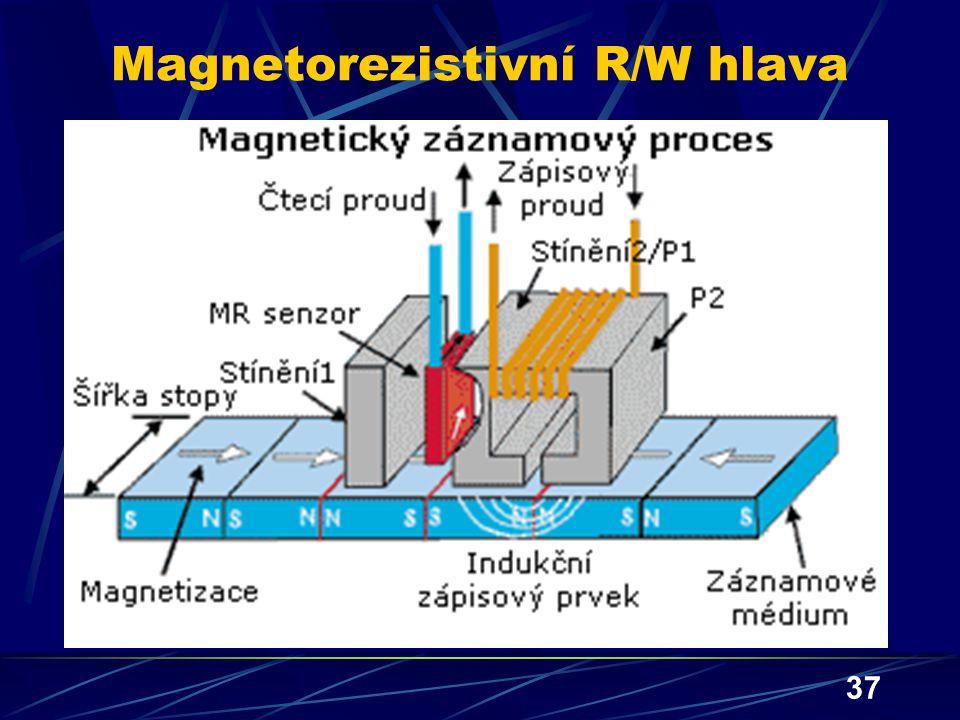 37 Magnetorezistivní R/W hlava