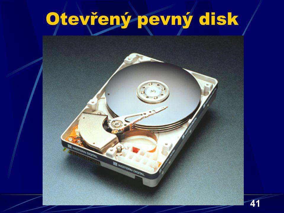 41 Otevřený pevný disk