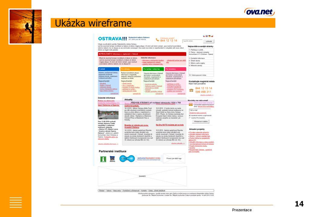 Prezentace Ukázka wireframe 14