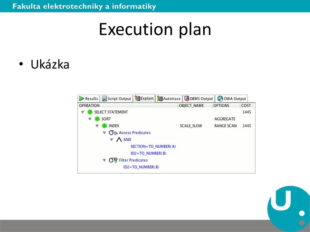 Execution plan Ukázka