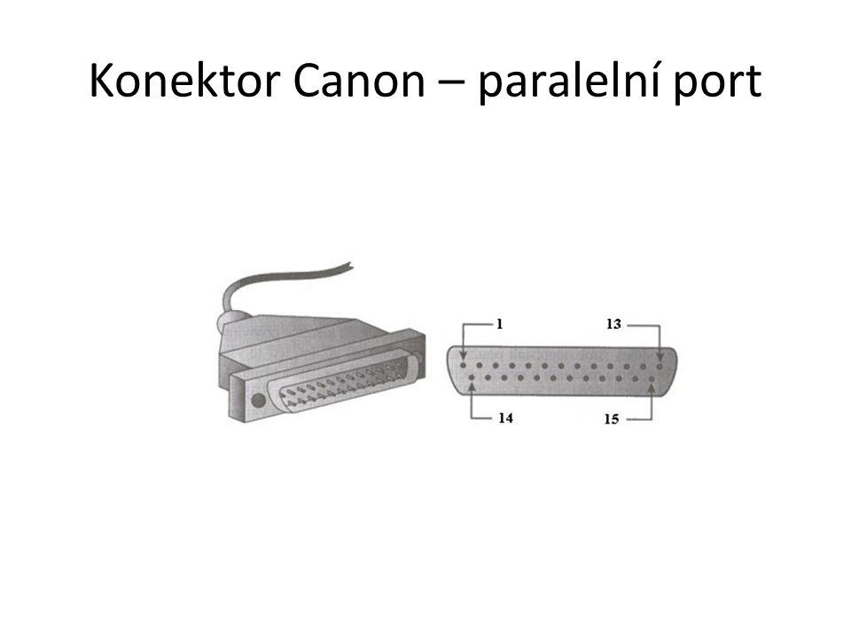 Konektor Canon – paralelní port