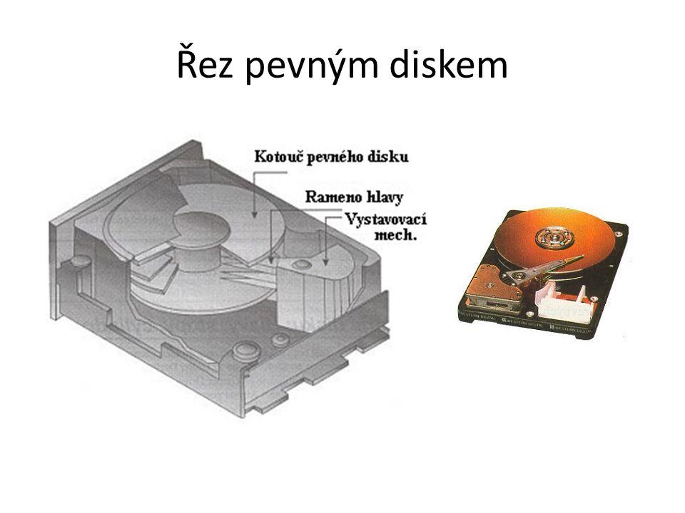 Řez pevným diskem