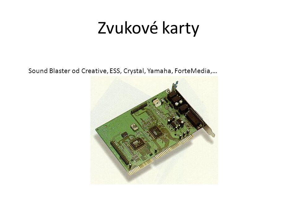 Zvukové karty Sound Blaster od Creative, ESS, Crystal, Yamaha, ForteMedia,…
