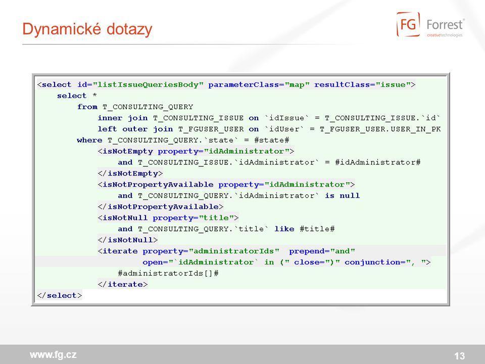 Dynamické dotazy 13 www.fg.cz