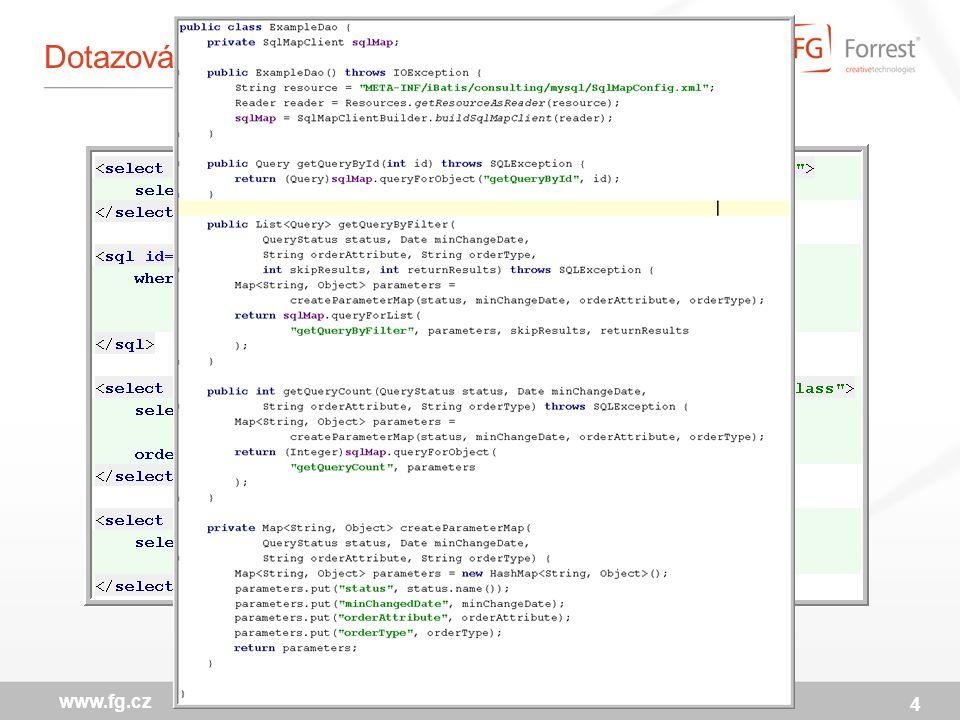 ResultMap – mapování výstupu na objekty 5 www.fg.cz