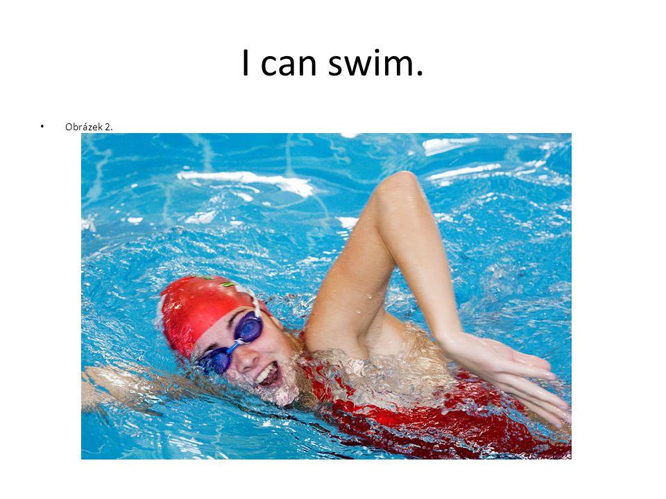 I can swim. Obrázek 2.