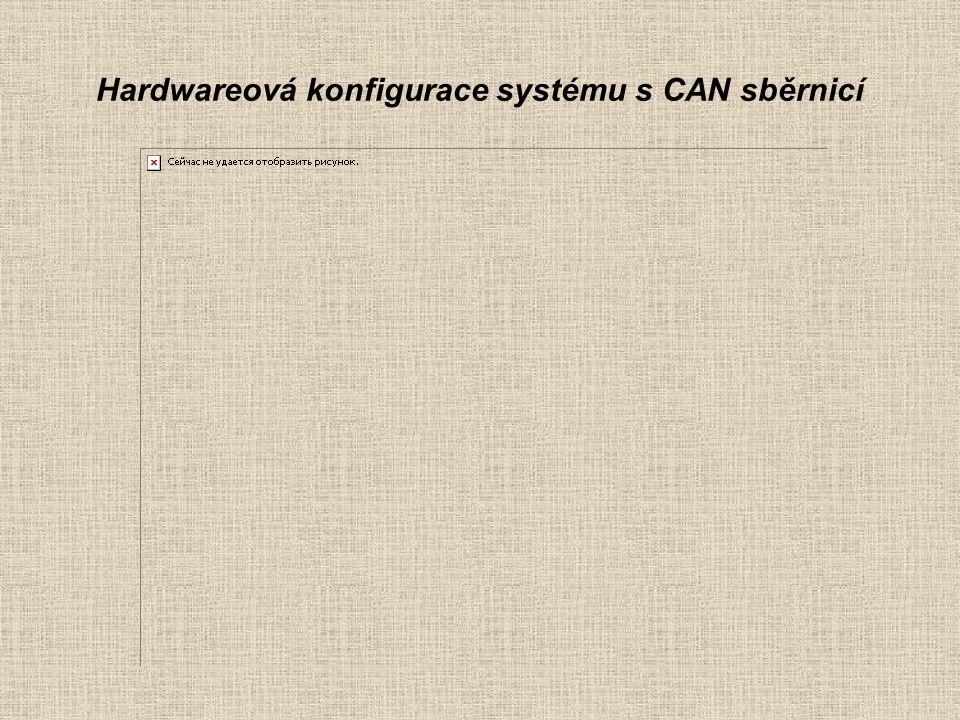 Hardwareová konfigurace systému s CAN sběrnicí