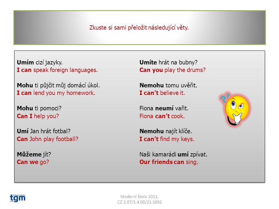 Co znamená v našem jazyce slovo CAN Má dva významy.