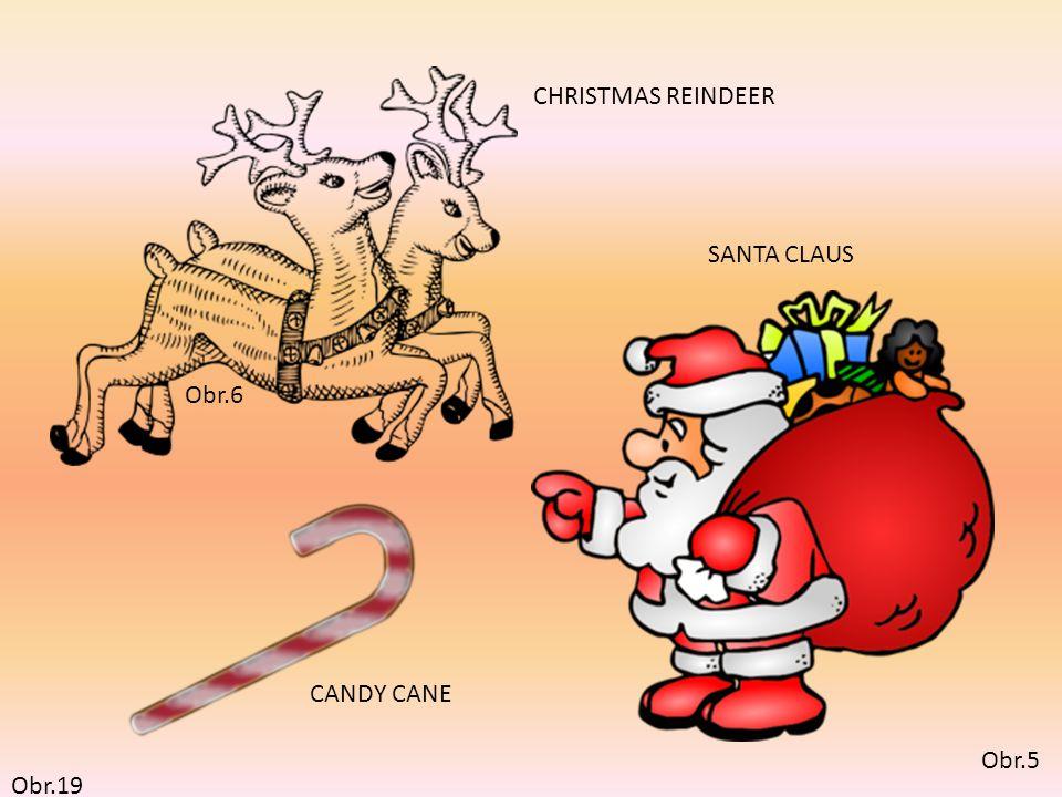 Obr.5 SANTA CLAUS Obr.6 CHRISTMAS REINDEER CANDY CANE Obr.19