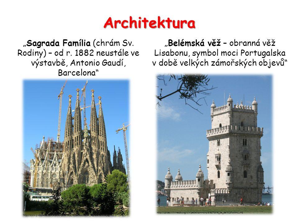 """Architektura """"Sagrada Família (chrám Sv. Rodiny) – od r."""