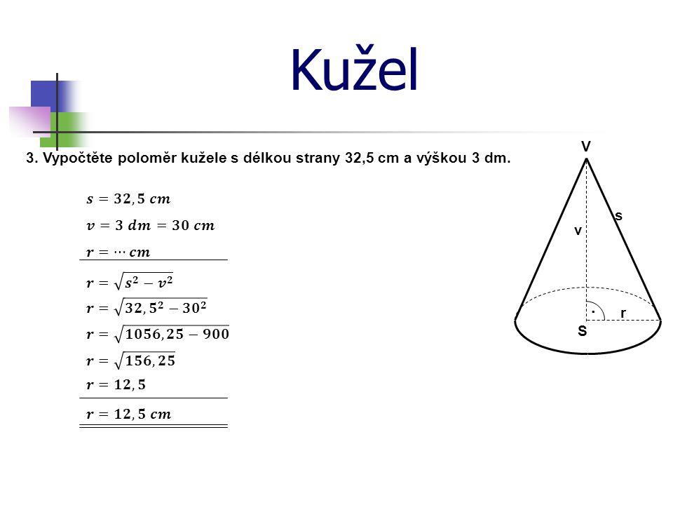 Síť kužele Sestrojte síť kužele, s poloměrem 25 mm a délkou strany 40 mm.