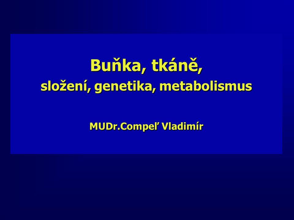 Buňka, tkáně, složení, genetika, metabolismus MUDr.Compeľ Vladimír
