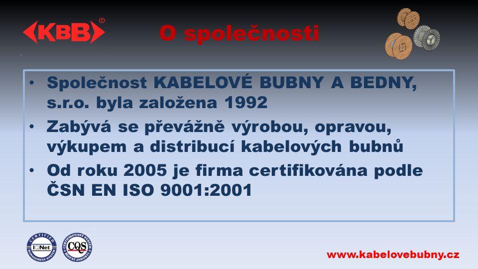 O společnosti Společnost KABELOVÉ BUBNY A BEDNY, s.r.o.