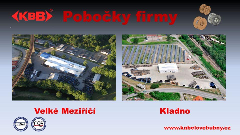 Pobočky firmy Velké MeziříčíKladno www.kabelovebubny.cz