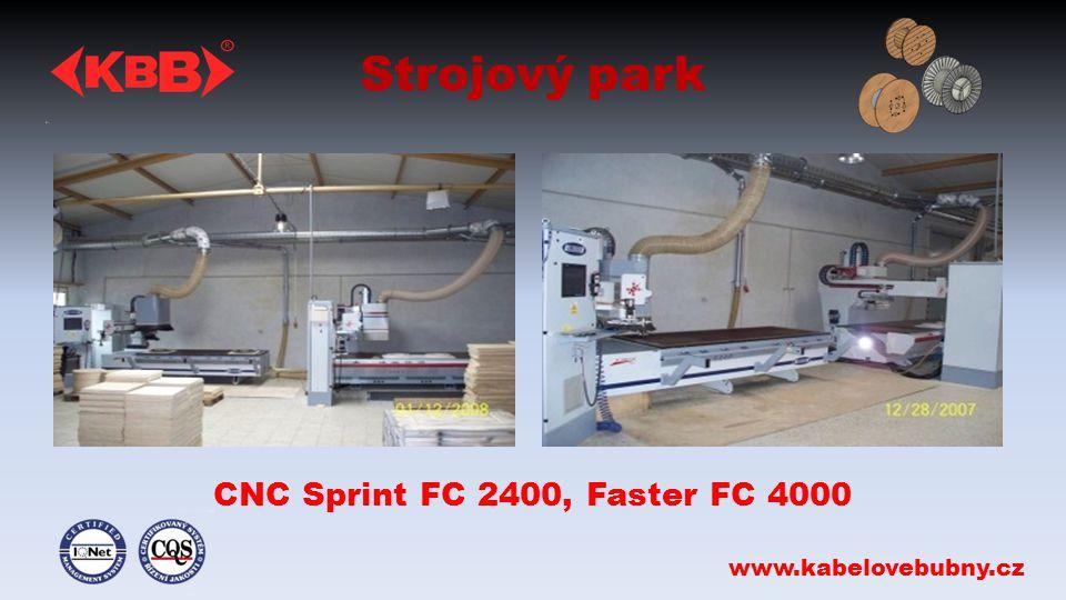 Strojový park CNC Sprint FC 2400, Faster FC 4000 www.kabelovebubny.cz