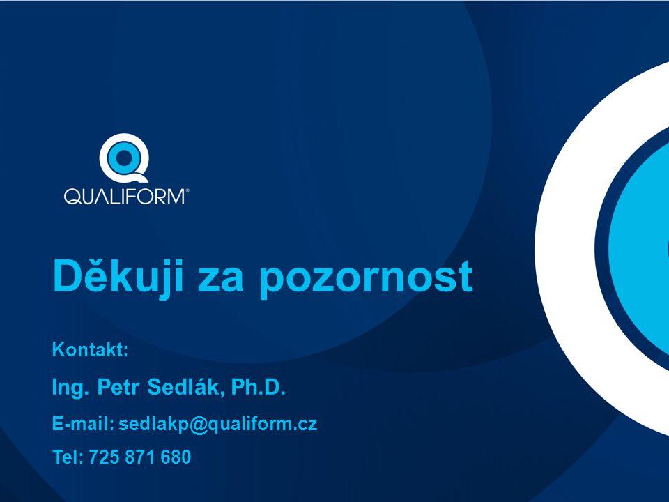 Děkuji za pozornost Kontakt: Ing. Petr Sedlák, Ph.D. E-mail: sedlakp@qualiform.cz Tel: 725 871 680