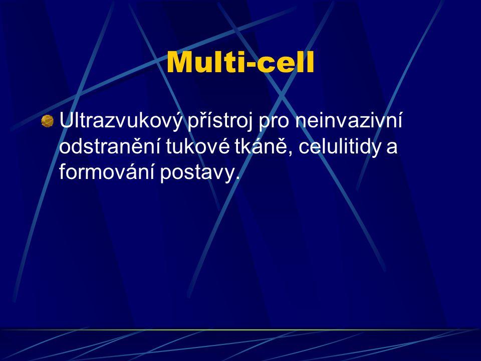 Multi-cell Ultrazvukový přístroj pro neinvazivní odstranění tukové tkáně, celulitidy a formování postavy.