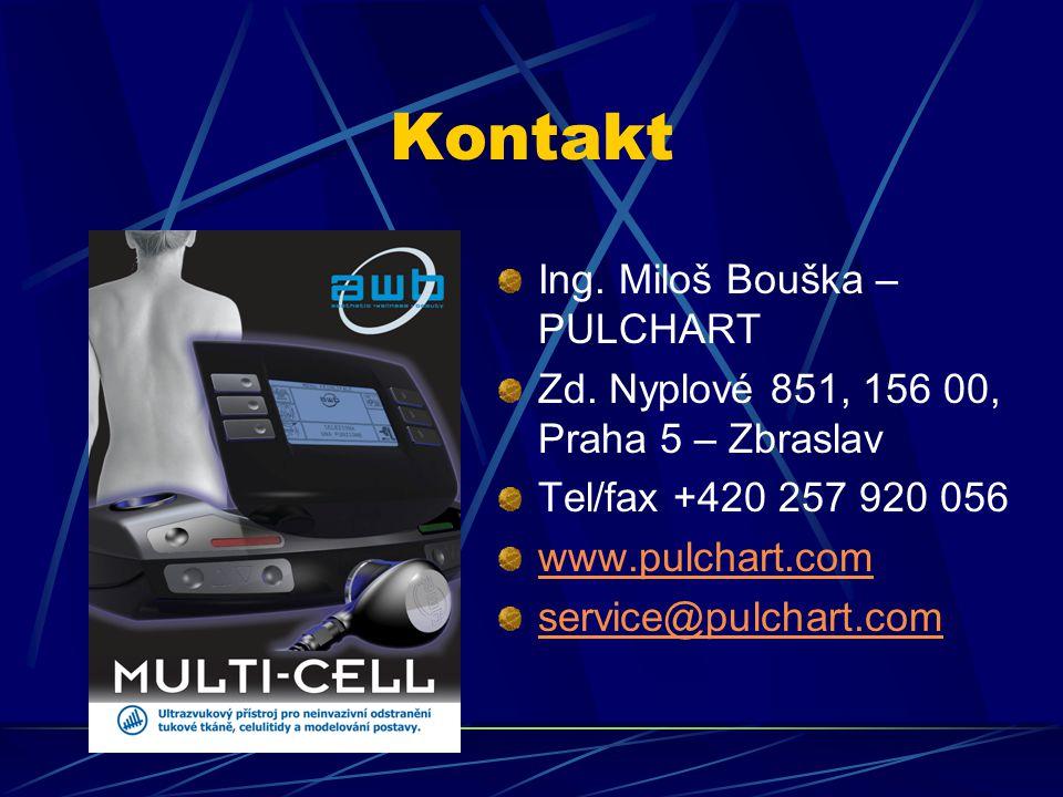 Kontakt Ing. Miloš Bouška – PULCHART Zd. Nyplové 851, 156 00, Praha 5 – Zbraslav Tel/fax +420 257 920 056 www.pulchart.com service@pulchart.com