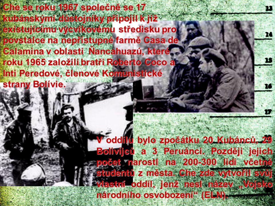 K první srážce s armádou došlo 23.března 1967 v Ňancahuazú.