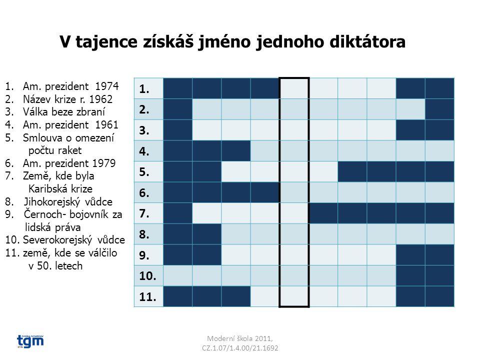 Moderní škola 2011, CZ.1.07/1.4.00/21.1692 1. 2. 3.