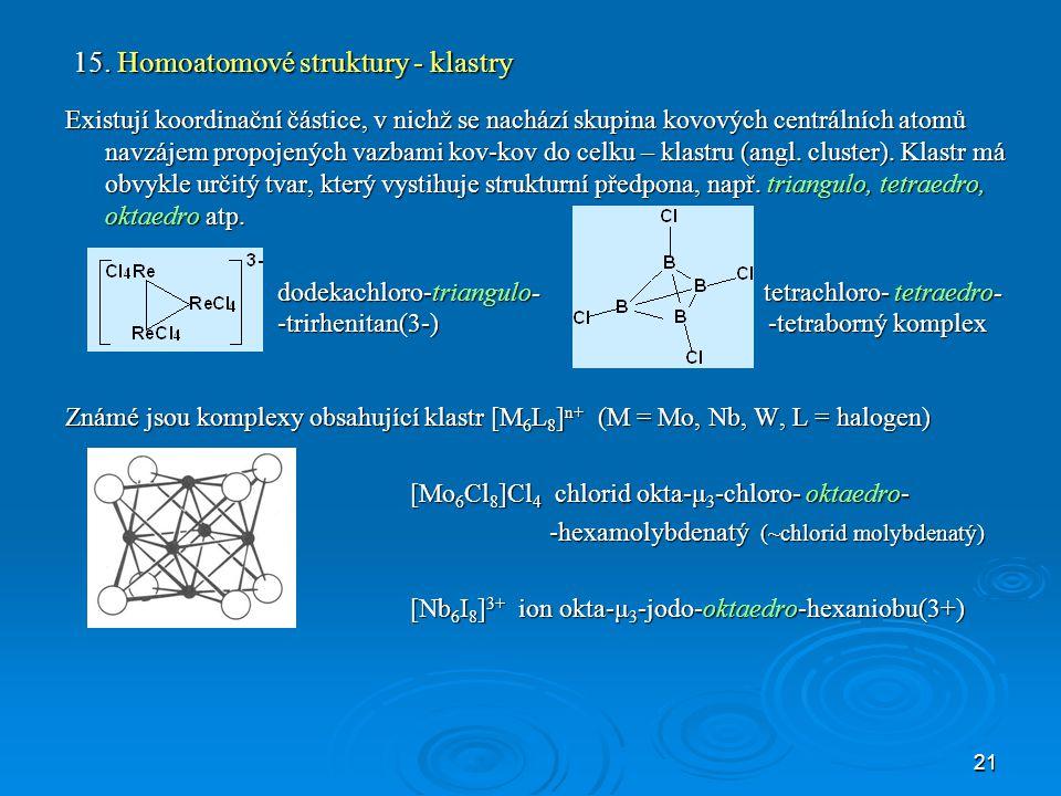 22 Fullereny jako ligandy Fullereny jsou nové allotropy uhlíku.