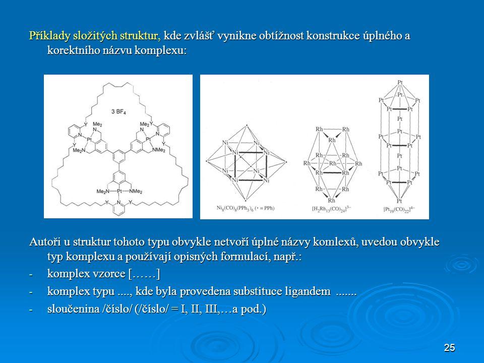 26 příklad publikací z J. Organomet. Chem (2005)