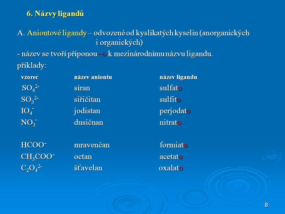 8 6.Názvy ligandů A.