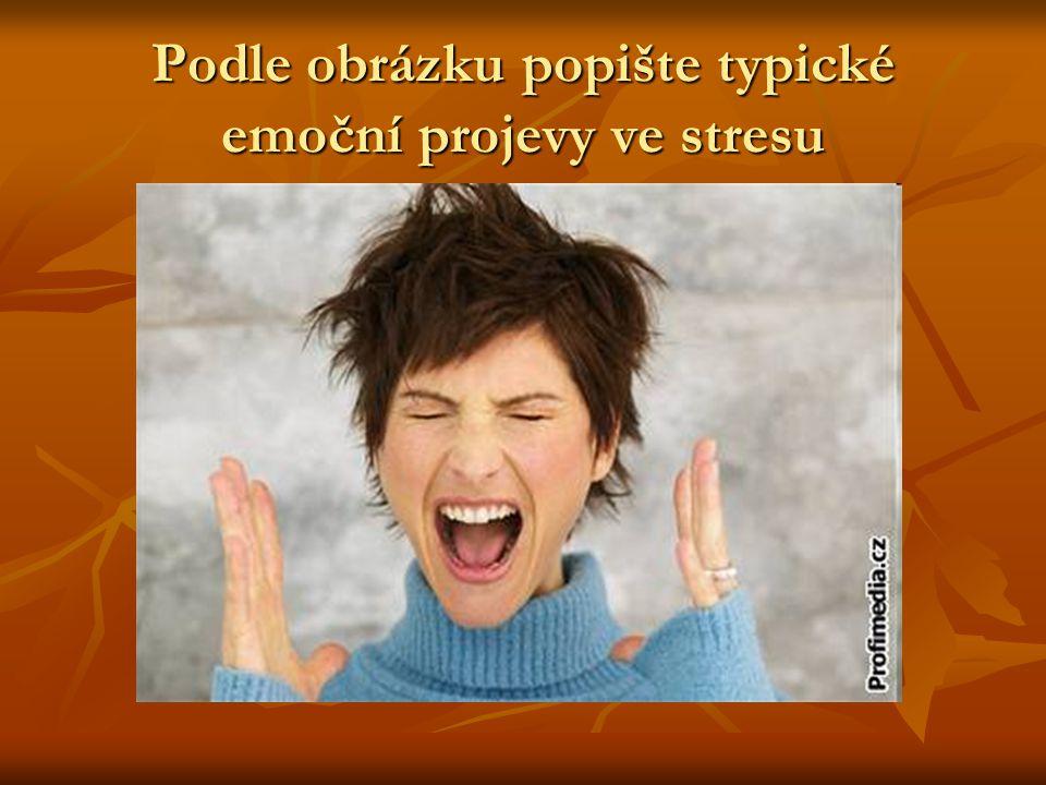 Podle obrázku popište typické emoční projevy ve stresu