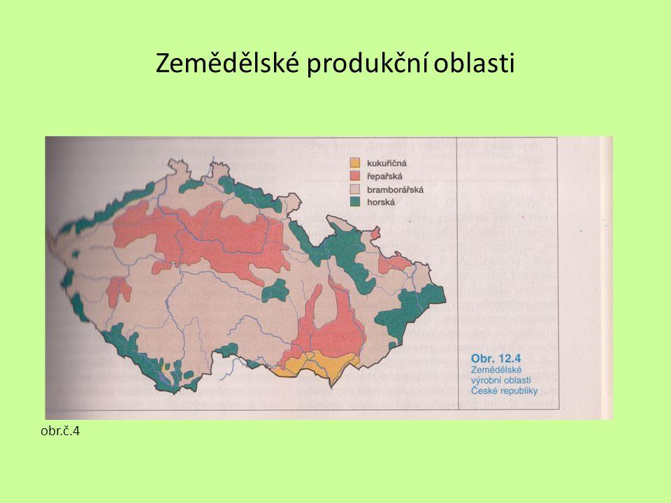 Zemědělské produkční oblasti obr.č.4