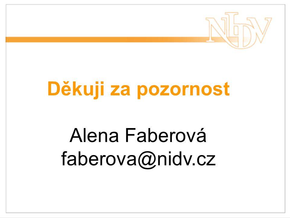 Děkuji za pozornost Alena Faberová faberova@nidv.cz