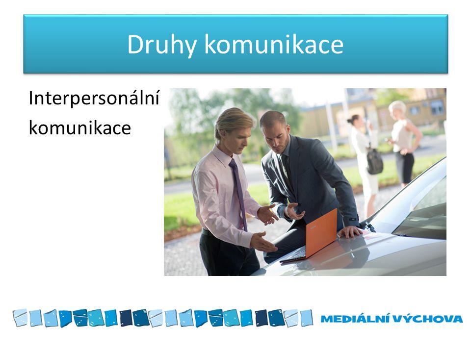 Druhy komunikace Interpersonální komunikace