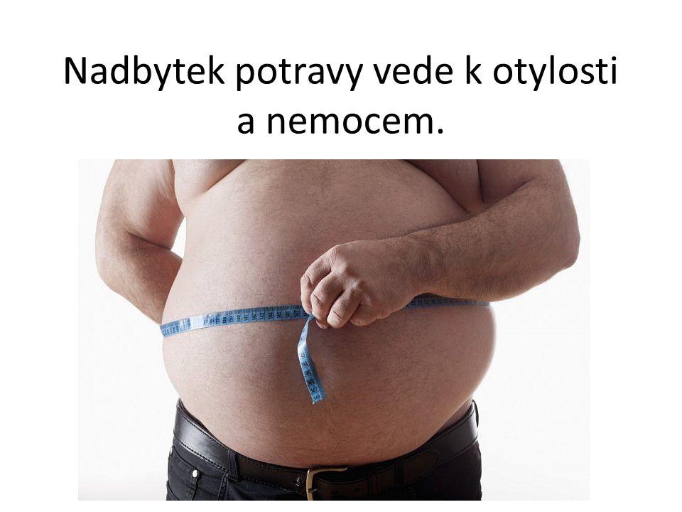Nadbytek potravy vede k otylosti a nemocem.
