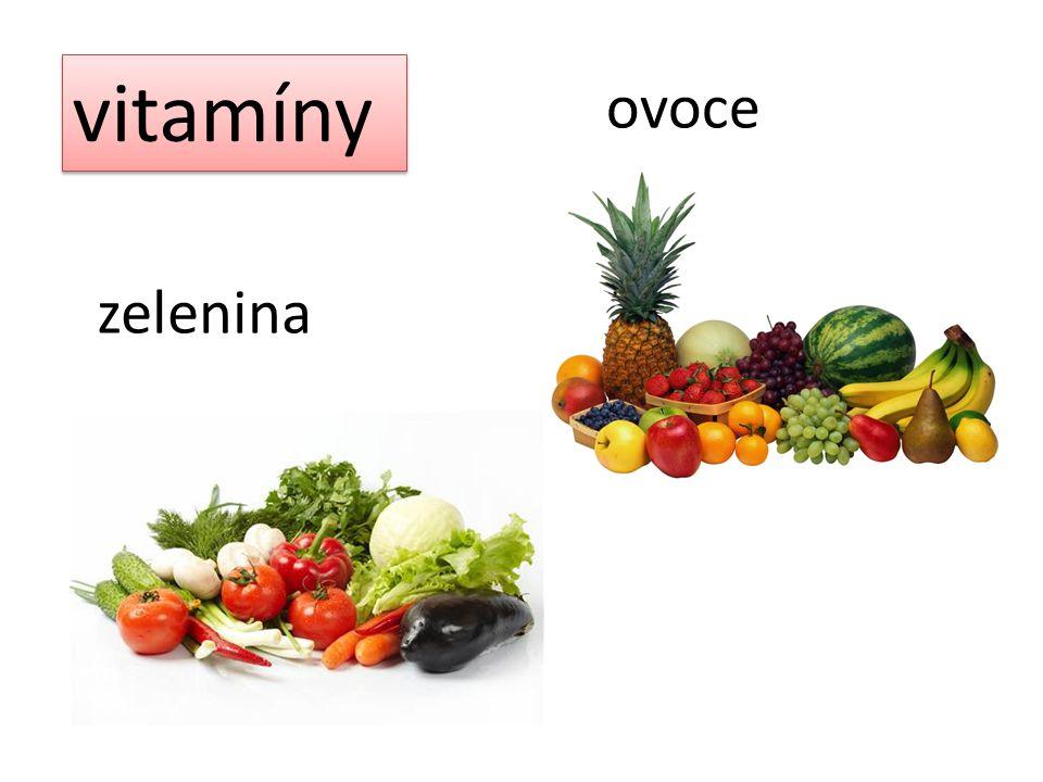 vitamíny ovoce zelenina