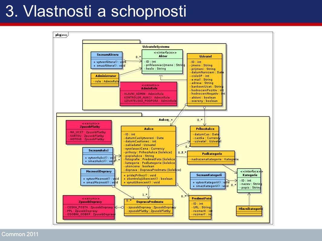 3. Vlastnosti a schopnosti Common 2011