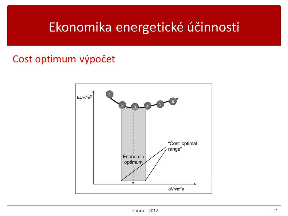 Karásek 201221 Cost optimum výpočet Ekonomika energetické účinnosti
