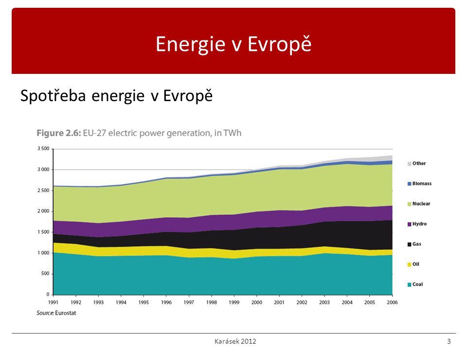 Spotřeba energie v Evropě 3 Energie v Evropě Karásek 2012