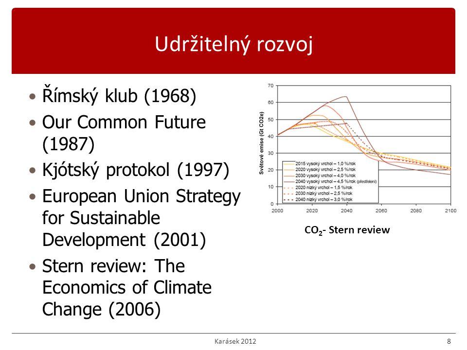 Karásek 201219 Návratnost investic Net present value (NPV) INjsou investiční náklady CF t je cash flow v roce t T z je životnost opatření Ekonomika energetické účinnosti